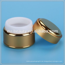 Luxus-Creme-Glas mit allen Aluminium-Abdeckung