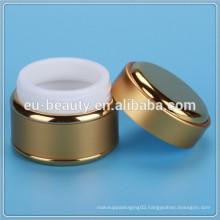 luxury cream jar with all aluminum cover