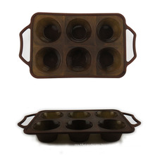 Moldes para pasteles de silicona de 6 cavidades