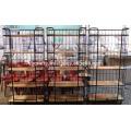 Estantería de almacenamiento industrial para exhibición de tubos metálicos