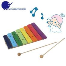 Farbe Hölzerner Regenbogen 8 Anmerkungen Spielzeug Xylophone