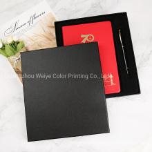 Custom Logo Printing Souvenir PU Leather Gift Set Notebook