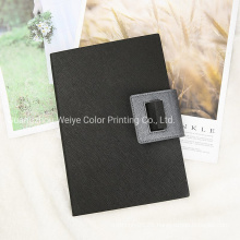Folding Fancy PU Leather Cover Stationary Promotion Notebook