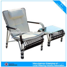 Chaise inclinable de rotin de chaise de plage de meubles extérieurs