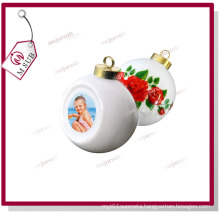 Christmas Ceramic Bauble with Sublimation Printed Photo