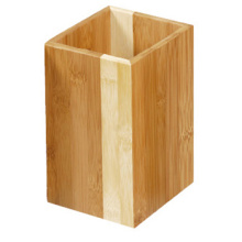 Bamboo Utensil Holder Wooden Kitchen Tool Holder