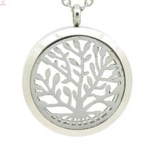 Top selling stainless steel perfume locket,essential oil necklace,tree of life locket