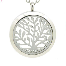 Лучшие продажи нержавеющей стали медальон духи эфирное масло ожерелье,дерево жизни медальон