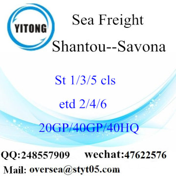 Shantou Port Sea Freight Shipping To Savona