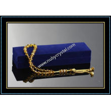 33PCS Islamic Crystal Rosaries with Golden Chain (k11)