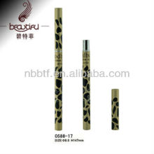 Novo design Leopard alumínio sobrancelha recipiente / tubo