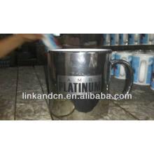 Haonai 23oz silver electroplating ceramic mug with logo