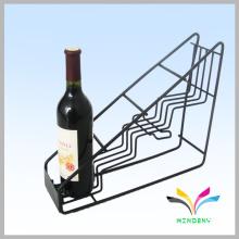 Soporte de botella de vino de metal negro creativo personalizado