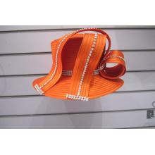 Sombreros formales de la iglesia de la cinta de raso de la moda
