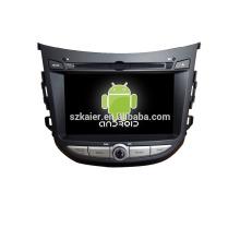 Quad core! Dvd del coche con enlace espejo / DVR / TPMS / OBD2 para la pantalla táctil de 7 pulgadas de cuatro núcleos 4.4 sistema Android HYUNDAI HB20