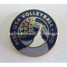 Pin de comercio de metales para el voleibol de Rio USA (badge-002)