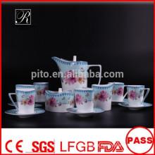 P & T 2015 novo produto óssea China chá conjunto conjunto de flores design elegante flores