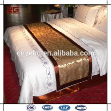 High Quality Textile Hotel cachecol cama, corredor de cama, conjunto de roupa de cama