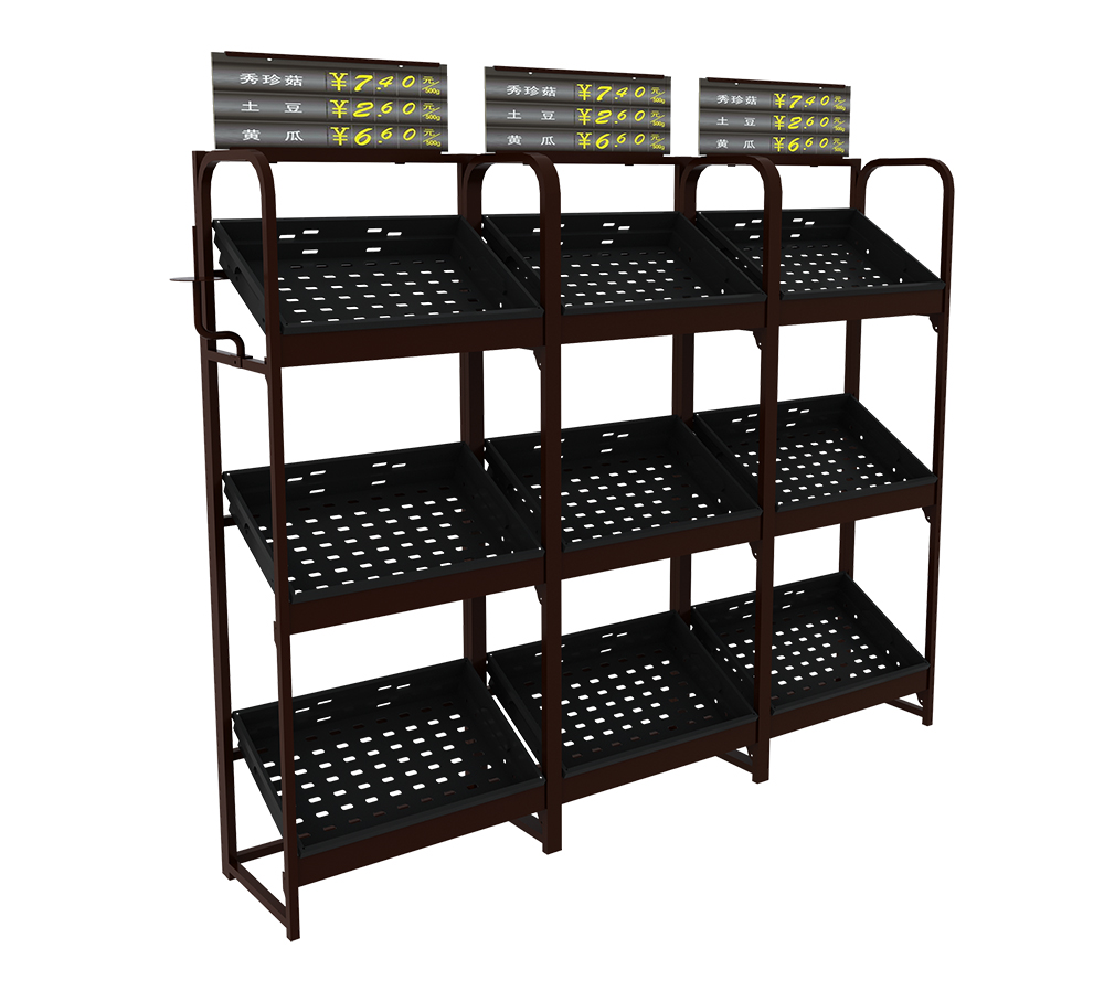 Steel Single Sided Vegetable Shelves
