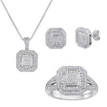 Micro establece la joyería del ajuste fijó la joyería de la plata esterlina 925