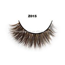 100% real mink eyelash, brown eyelash, sable eyelash extension for retailer