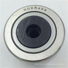 Les suiveurs de came de type STUD de 40x18x58mm suivent le roulement à rouleaux plats NUKR 40 A