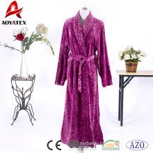 China supplier high quality super soft printed flannel fleece bathrobe