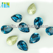 magnetically fancy blue pear shaped cz stone for gemstone