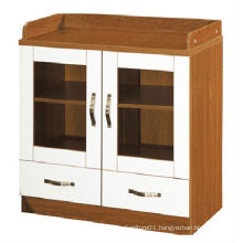 2015 new design office wooden 2 drawer file cabinet with lock (KB201-1)