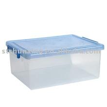 divisória plástica transparente da caixa de armazenamento do tamanho grande transparente para 2017