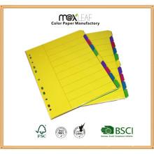 160GSM A4 Assorted Colors Paper Cardboard Divider