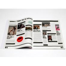 Atacado Offset Paper Customzied Softcover Magazine Printing