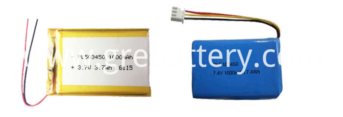7.4V 503450 1000mAh 2 Cell Polymer Lithium Ion Battery Voltage for Bluetooth Audio