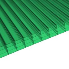 Feuille de polycarbonate de 4 murs pour le puits de lumière de décoration 10 ans de garantie différentes couleurs