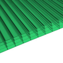 4 Wall Polycarbonate Sheet for Decoration Skylight 10 Years Warranty Different Colors