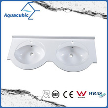 Artificial Stone Double Lever Installing Bathroom Basin Acb1205