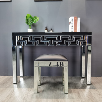 modern hotel bedroom mirrored dressing table with stool