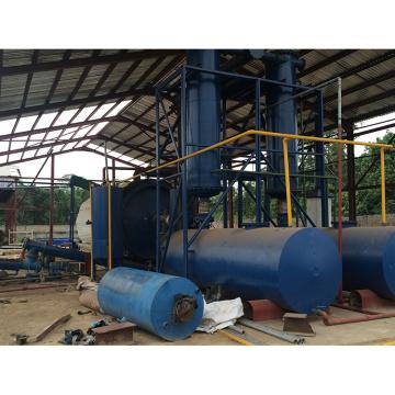 Planta de aceite ahorro de energía de la pirólisis del neumático de desecho para la venta