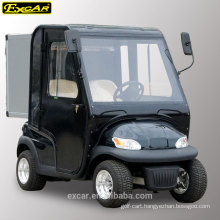 EXCAR 2 seats electric golf cart with doors hotel utility buggy car