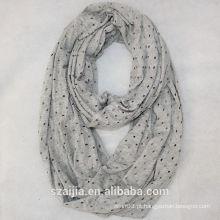 Moda autimn inverno Hallow out lenço de infinidade sólida