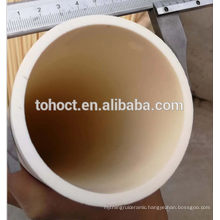 Toho customized Large Diameter 99.7% Al2O3 ceramic alumina tube