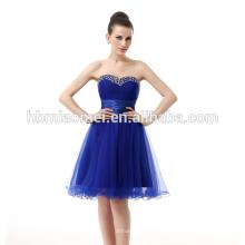 Online-Shopping Frauen Party tragen kurze Rock Abendkleid Royal Blue Bridal Elegante koreanische Abendkleid