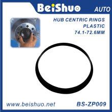 Центрирующее кольцо центра колеса пластика черного цвета