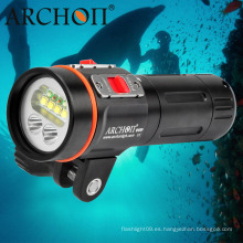 """2600 Lumens Luz de buceo LED Luz de video subacuática con 1 """"brazo de bola Brazo de montaje"""
