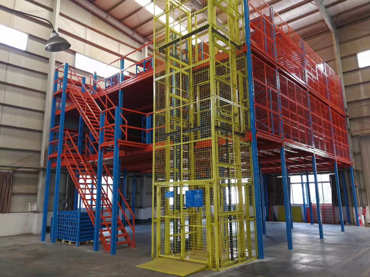 3 Floors of Mezzanine with Cargo Eelvator