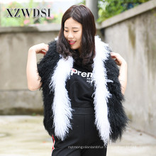 Natural Hair Curly Tibetan Mongolian Lamb Fur Scarf