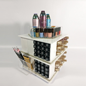 Draaiteller Wit Cosmetische Make-up Organizer