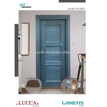 Folheado Natural Azul Escuro Patina Luxo Moldado Porta Interior