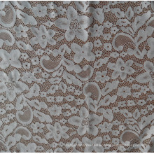 White Spandex Lace Fabric