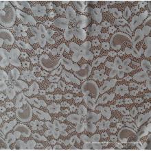 Белая кружевная ткань Spandex